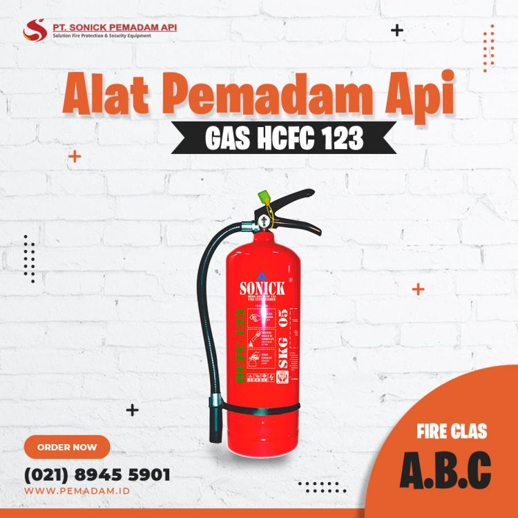 Supplier Alat Pemadam Api Jual apar GAS Clean Agent HCFC 123